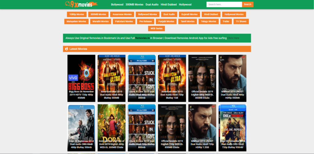 9xmovies homepage download