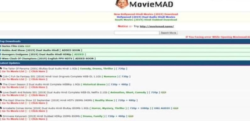 moviemad home page downloading movies