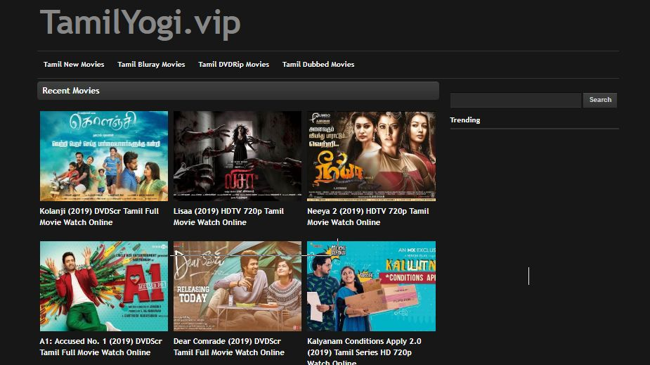 tamilyogi downloading page