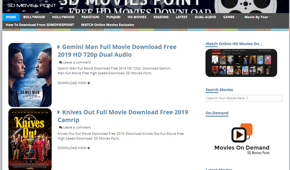 sdmoviespoint home page