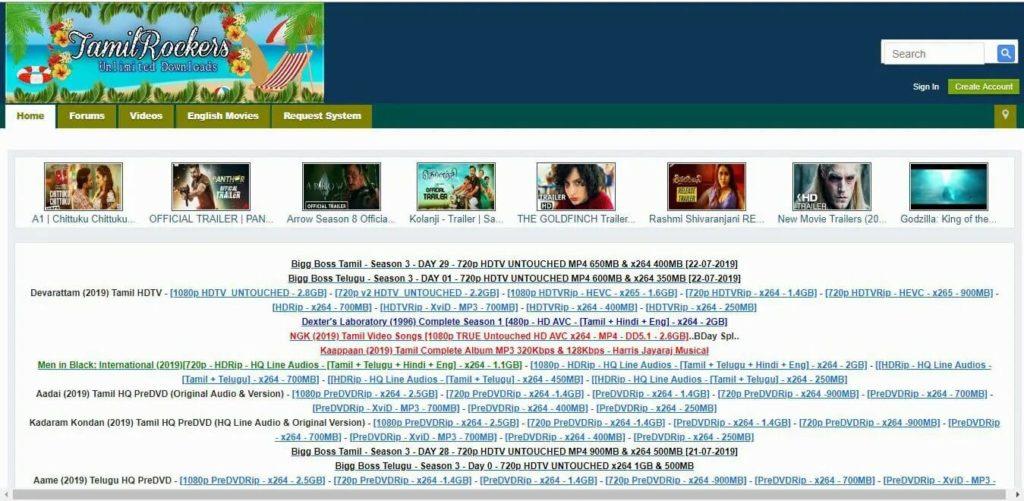 tamilrockers-website-design