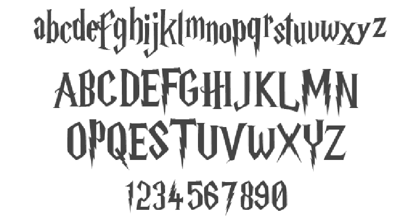 Harry Potter Font | Download for Free