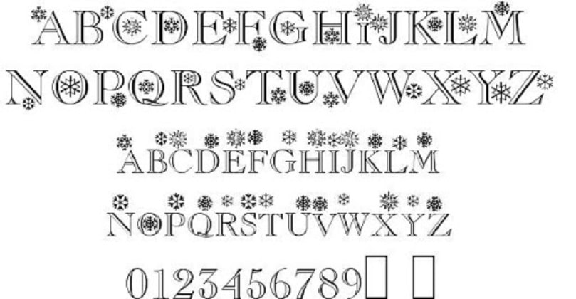 Christmas / Flakes - Font Family (Typeface) Free Download